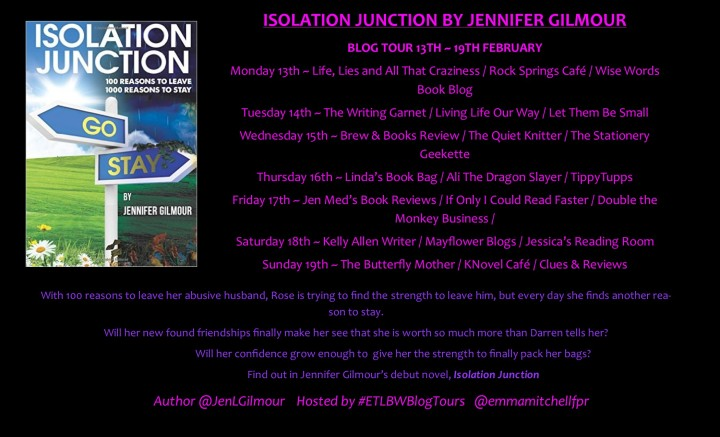 Blog Tour: Isolation Junction – Author Q&A with Jennifer Gilmour (@JenLGilmour; @emmamitchellfpr)