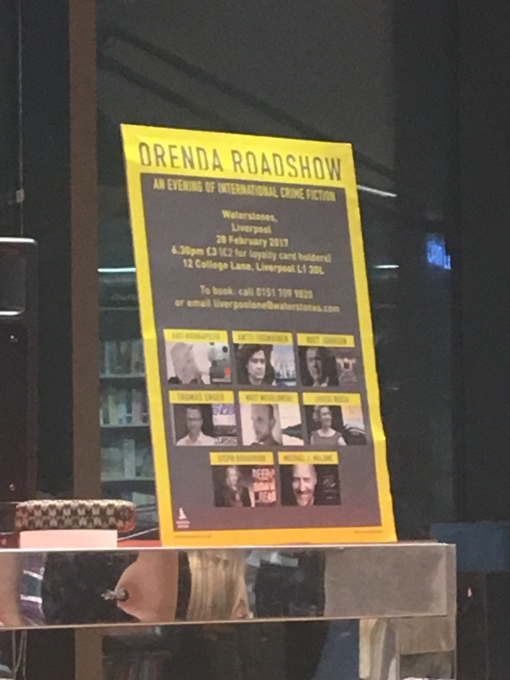 My Bookish Night Out: The @OrendaBooks Roadshow with @mgriffiths163