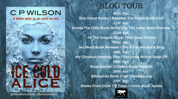 #BlogTour: Ice Cold Alice by C.P.Wilson (@bellshillwilson; @Bloodhoundbook)