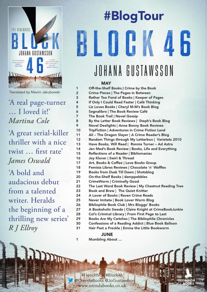 block 46 blog tour poster