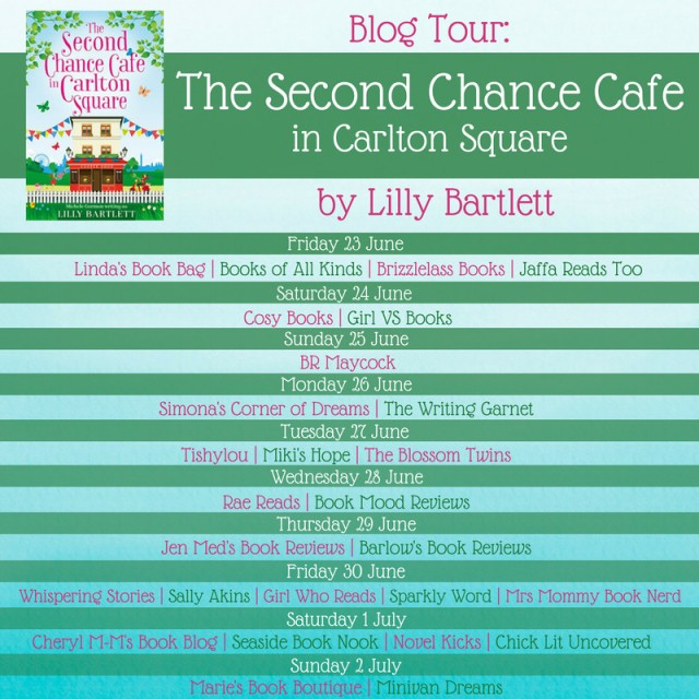 The Second Chance Cafe blog tour graphic