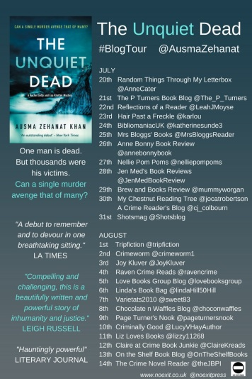 Unquiet Dead Blog Tour Poster