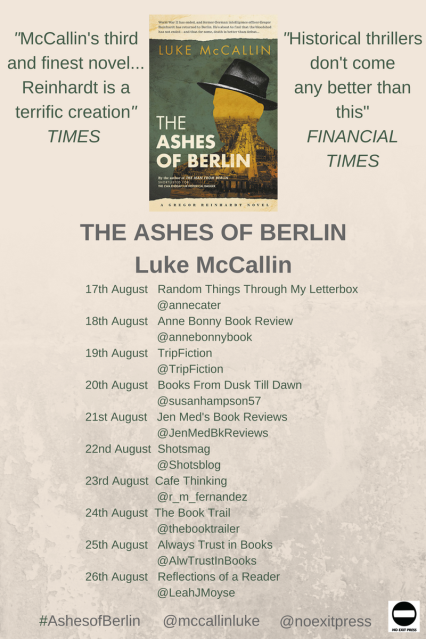 Ashes of Berlin Blog Tour Poster