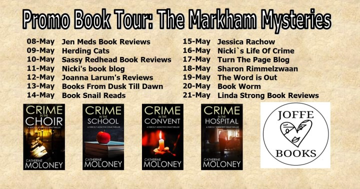 The Markham Mysteries by Catherine Moloney #blogtour #promopost @Joffebooks @mgriffiths163